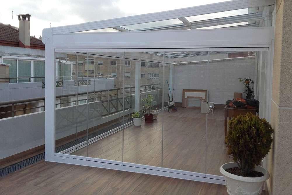 Cortina de cristal para terrazas