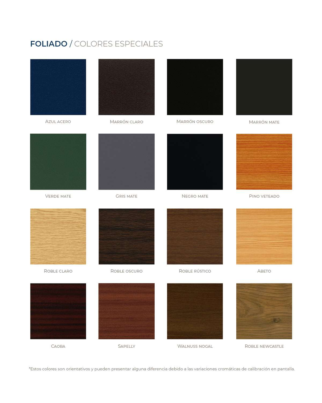 Colores especiales para las ventanas de PVC
