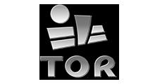 Logotipo en blanco y negro de TOR